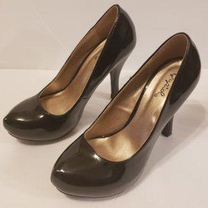 Qupid Women's High Heels Shoes Black size 7.5